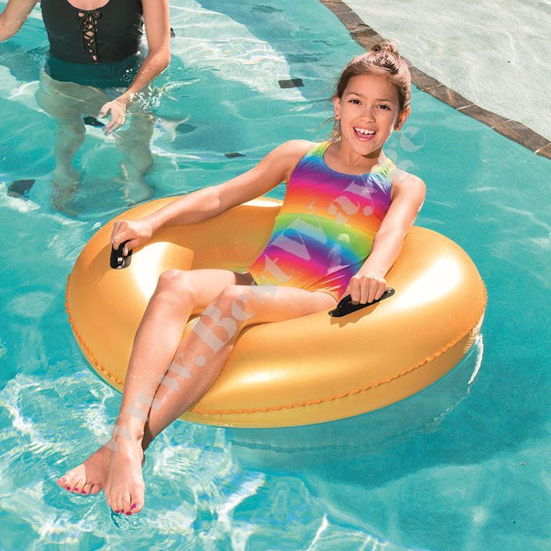 Надувной Золотой круг для плавания Bestway 36127